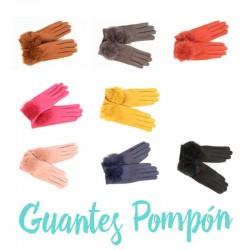 guantes pompon