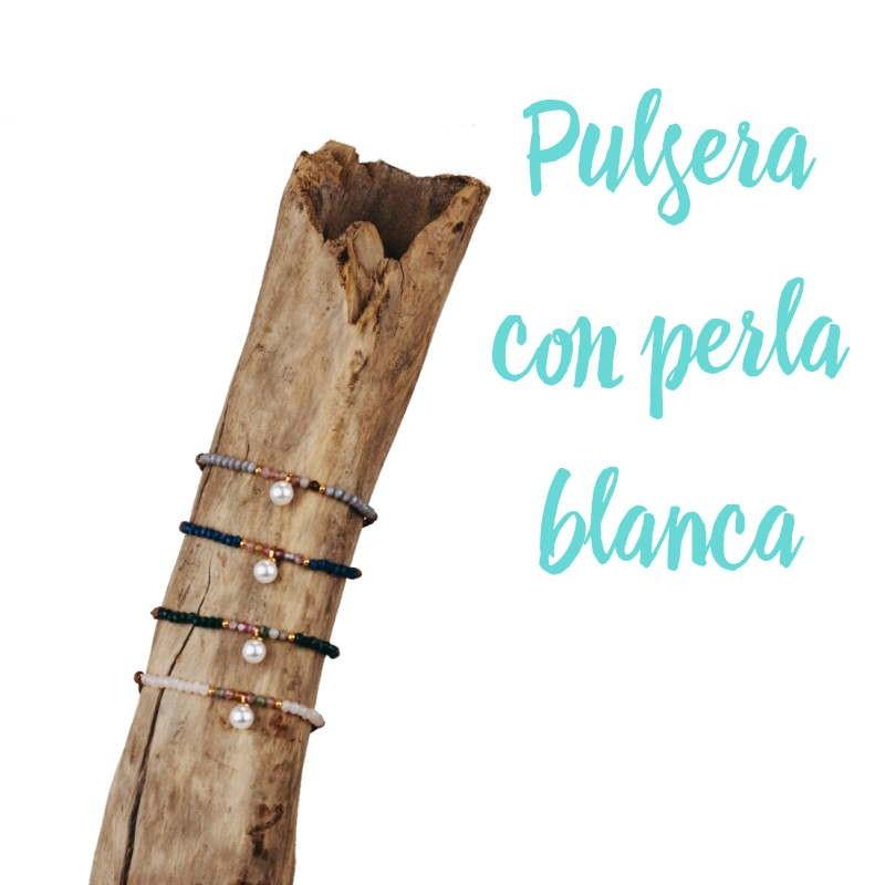 PULSERA CON PERLA BLANCA
