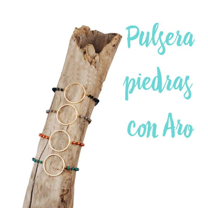 PULSERA PIEDRAS CON ARO