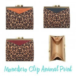 Monedero Clip Animal Print