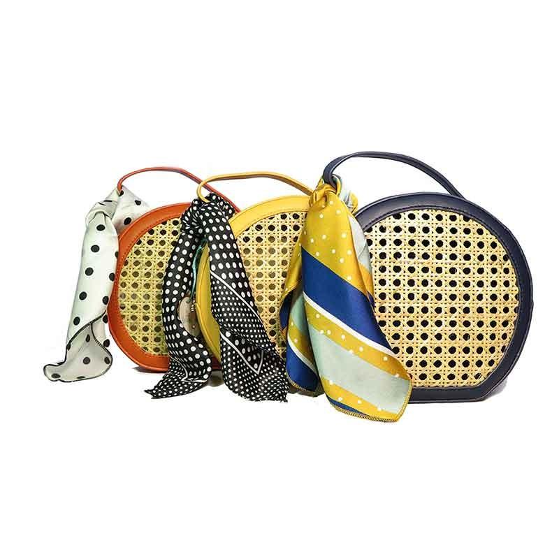 bolso de rafia modelo Pisa todos los colores complemento pañuelo