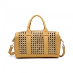 Bolso de rafia modelo Florencia amarillo