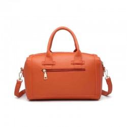 Bolso de rafia modelo Florencia naranja por detrás